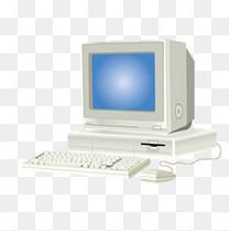 白色台式电脑