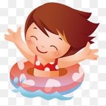 游泳的女孩