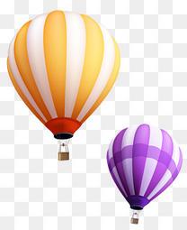 矢量热气球素材