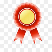 红色奖状勋章