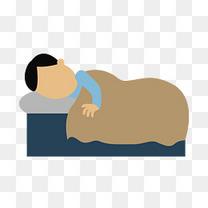 卡通睡觉的男子