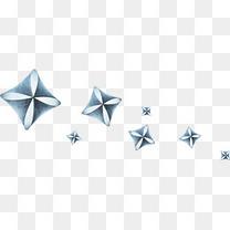 蓝色漂浮水晶饰品