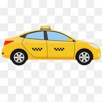 矢量卡通出租车的士素材