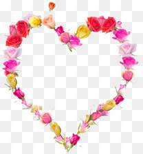 情人节装饰心形花环素材