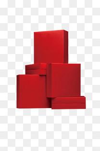红色堆积礼盒