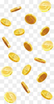 漂浮的金币素材
