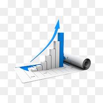 数据表和蓝色箭头柱状图