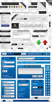网页设计元素矢量素材