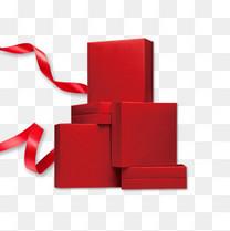 红色新年礼物礼盒情人节礼包丝带