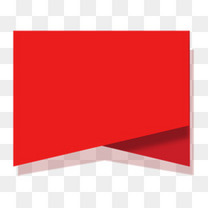 红色电商促销标签图标