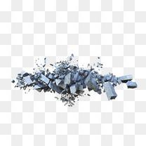 漂浮岩石碎片
