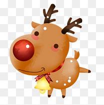 圣诞元素麋鹿