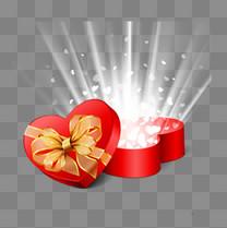 心形红色礼盒