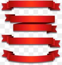 红色立体质感缎带