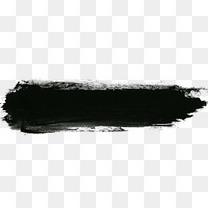 黑色中国风毛笔墨迹效果元素