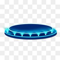 蓝色舞台灯光