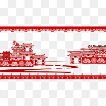 中国风剪纸建筑艺术1
