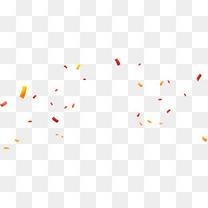 红黄色漂浮彩纸