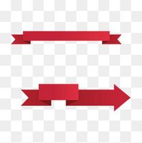 红色横幅矢量创意图像