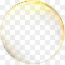金色大气气泡效果元素