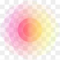 多彩清新曲线光芒效果元素