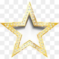 金色钻石镶边立体星星