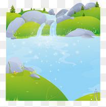 小溪流水矢量