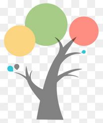 树状小清新PPT总结形状素材