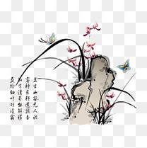 中国风水墨兰花