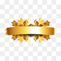 金属星星五颗星立体标签
