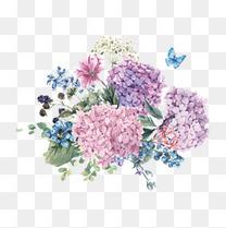 水粉花卉矢量