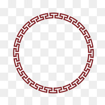 矢量中国风圆形边框PNG图片