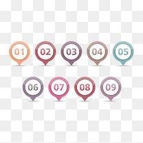 彩色数字标签