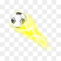 动感光效足球背景矢量素材