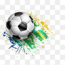 发射的世界杯足球矢量素材