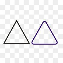黑色和蓝色三角形