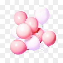 粉色的气球