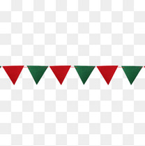 圣诞三角旗串素材