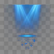 蓝色星光光带矢量