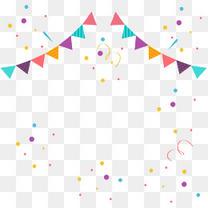 矢量手绘庆祝彩旗