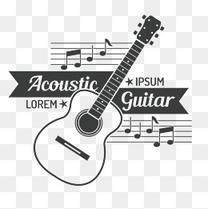 装饰图案 音乐 吉他 音符