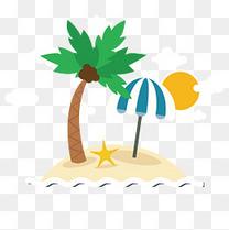 夏季度假小岛矢量素材