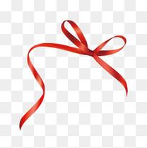 红色蝴蝶结丝带