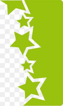 绿色不规则形状星星图案