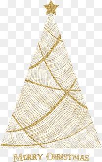 金色线条创意圣诞树