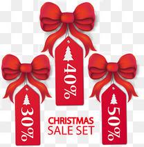 圣诞促销吊牌矢量素材