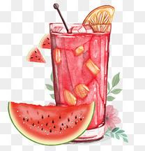 手绘西瓜汁