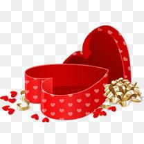 红色心形礼盒