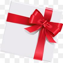 白色简约礼物礼盒