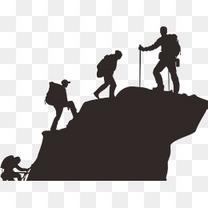 爬山的人们